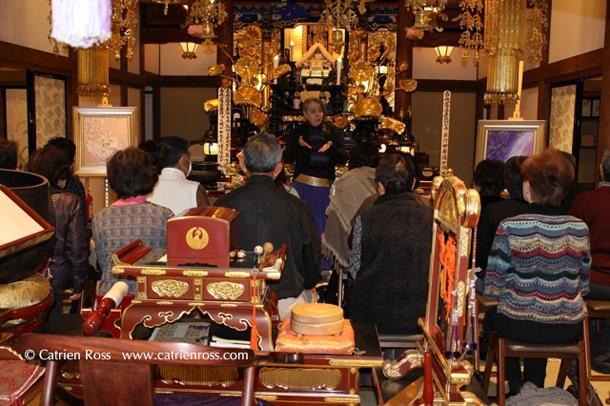 Catrien Ross Howa at Honkohji, Japan
